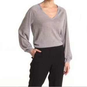 7 For All Mankind Metallic V Neck Sweater